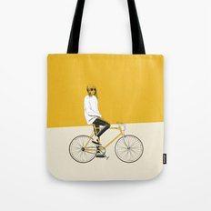 The Yellow Bike Tote Bag