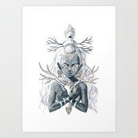 luna Art Prints featuring Luna by Freeminds