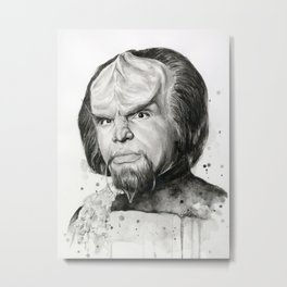 Star Trek: Worf Metal Print