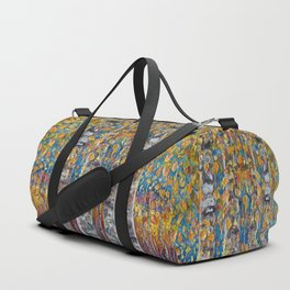 Colourful Autumn Aspen Trees Duffle Bag