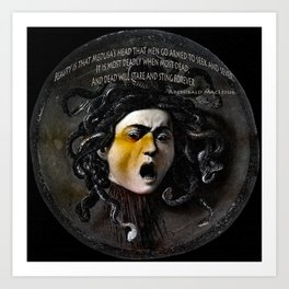 Medusa Head & quote Art Print