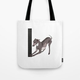 I is for Italian Greyhound Tote Bag