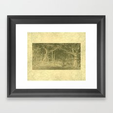 There is unrest in the forest Framed Art Print