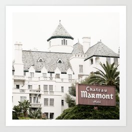 Chateau Marmont hotel Art Print