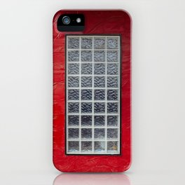 Glass Window on a Red Wall iPhone Case