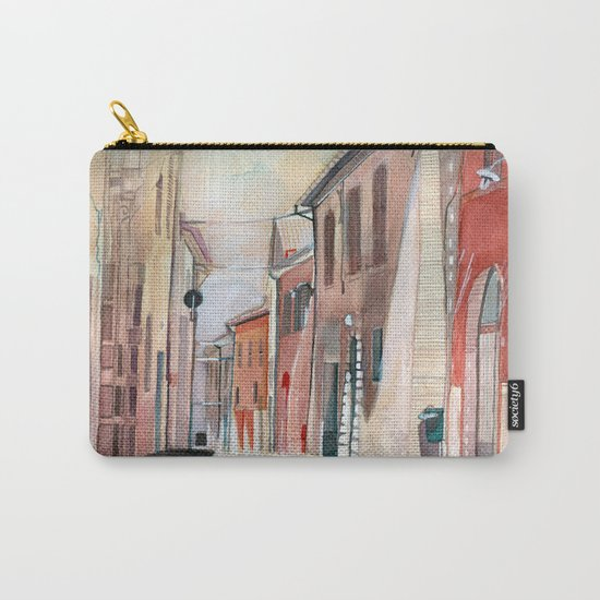 Italy, watercolor Carry-All Pouch