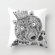 Burt Bear Throw Pillow