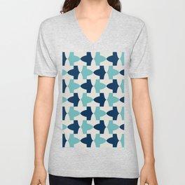 Alhambra Motif Blue Palette Unisex V-Neck