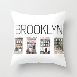 Brooklyn Brownstones Throw Pillow