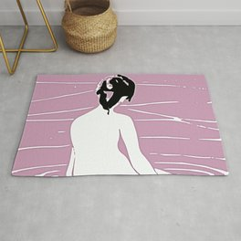 Minimal Abstract Lake Scene Rug