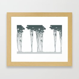 Trees in the Mist Framed Art Print