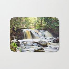 Upper Chapel Falls at Pictured Rocks National Lakeshore - Michigan Bath Mat