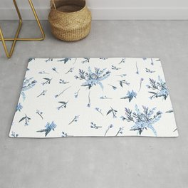 Cute vector rustic pattern with flowers Rug