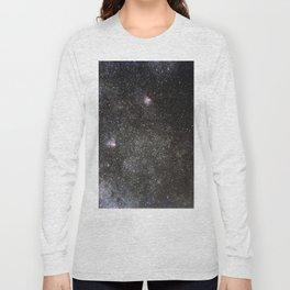 Starry sky with millions of stars, Milky Way galaxy, Eagle nebula, Omega nebula Long Sleeve T-shirt