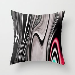 Marble Black and White Abstract Throw Pillow