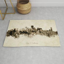 New Orleans Louisiana Skyline Rug
