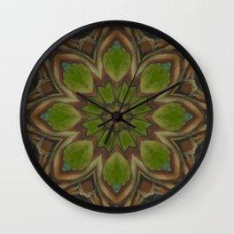 Metamorphosis // Beautiful Healing Energy Mandala Visionary Art Sacred Geometry Green Circle Wall Clock
