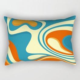 Oily Swirl Abstract Rectangular Pillow