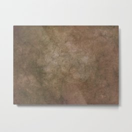 Old brown cracked background Metal Print