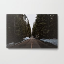 Driving Through the Forest Metal Print