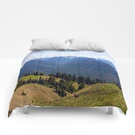 Hurricane Ridge Pano Comforters