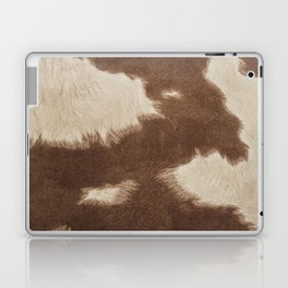 Cowhide Brown and White Laptop & iPad Skin