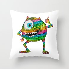 Mike Wazowski fan art by Luna Portnoi Throw Pillow
