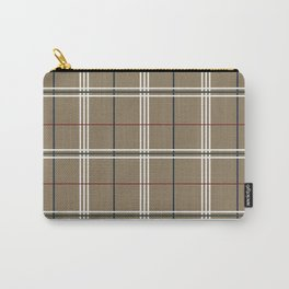 Peanut Plaid Carry-All Pouch