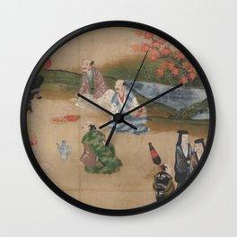 Japanese People's Life V Wall Clock