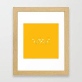 ¯\_(ツ)_/¯ Shrug - Yellow Framed Art Print