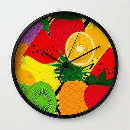 Fruits Pattern Wall Clock