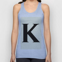 K MONOGRAM (BLACK & BEIGE) Unisex Tank Top