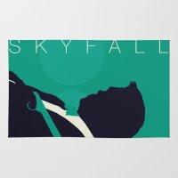 skyfall Area & Throw Rugs featuring Minimalist Bond: Skyfall by Tyler Bramer