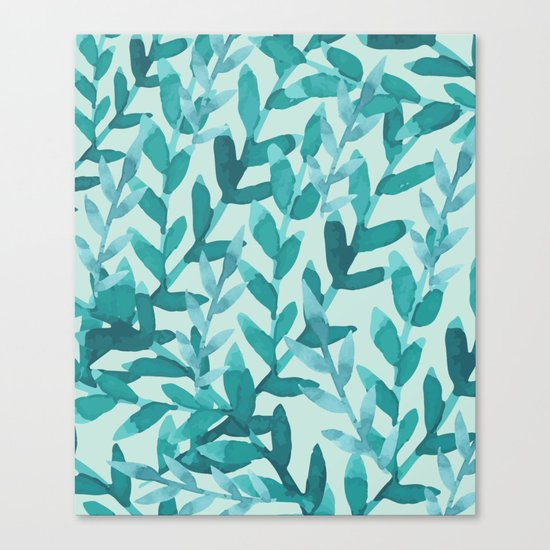 Lush Blue Canvas Print