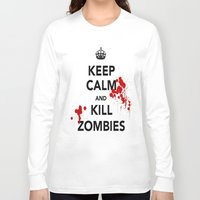 zombies Long Sleeve T-shirts featuring ZOMBIES by Tania Joy