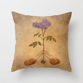 Anatomy of a Potato Plant Throw Pillow