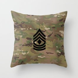 1st Sergeant (Camo) Throw Pillow