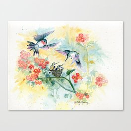 Hummingbirds Secret Garden Canvas Print