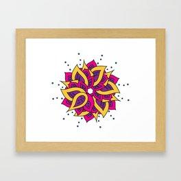 Lotus Mandala Framed Art Print