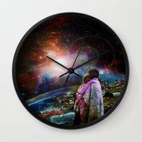 woodstock Wall Clocks featuring Woodstock Love Vibrant by ZiggyChristenson