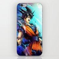 goku iPhone & iPod Skins featuring Goku by Vincent Vernacatola