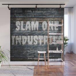 Slam 1 Industries Slate n White Out Wall Mural