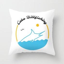 Cabo Billfishing Throw Pillow