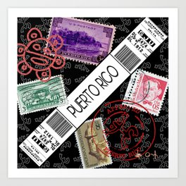 Welcome to Puerto Rico Art Print
