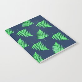 Navy and Lime Fern Pattern Notebook