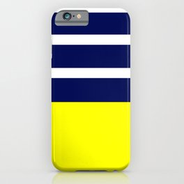 Summer Patio Perfect, Yellow, White & Navy iPhone Case