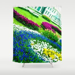 Multicolored tulips. Shower Curtain
