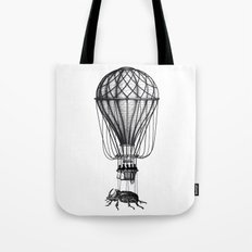 Discovery (black on white) Tote Bag