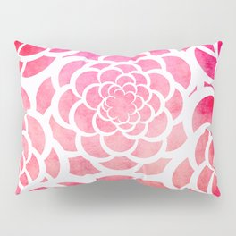 Girly hot pink watercolor abstract floral pattern  Pillow Sham
