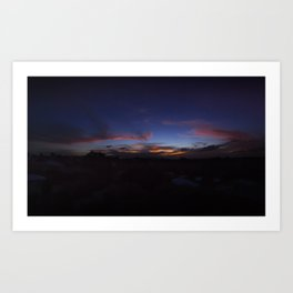 Australian Sunset Art Print